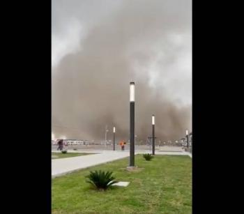 Se produce tolvanera en Aeropuerto de Santa Lucía; Sedena descarta daños