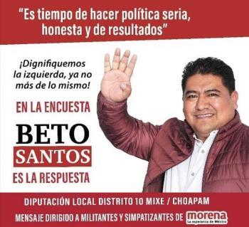Renuncia a precandidatura de Morena en Oaxaca, Humberto Santos, creador de chat XXX