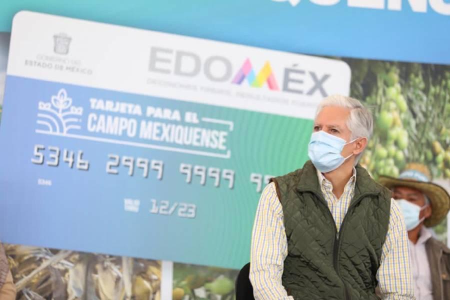 Da inicio Del Mazo al programa de tarjetas para el campo mexiquense