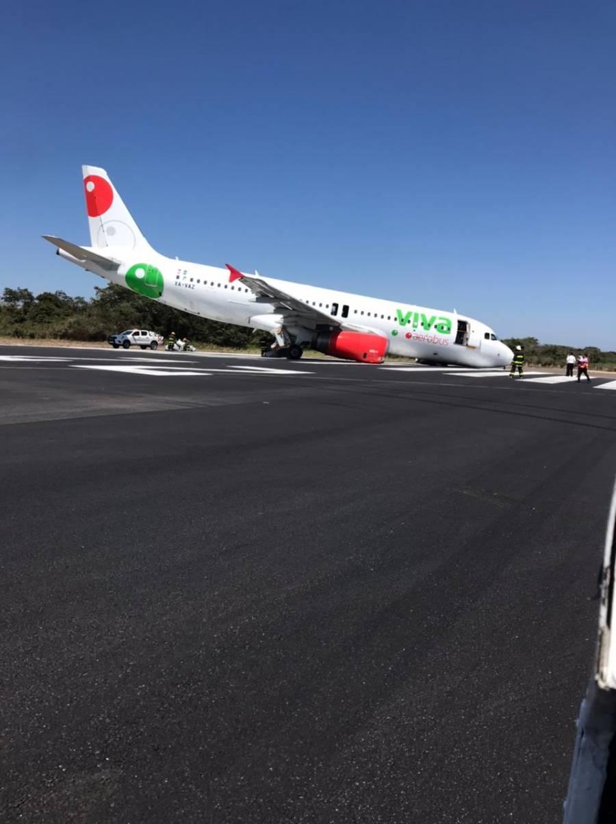 Registra incidente avión de Viva Aerobús en Puerto Vallarta