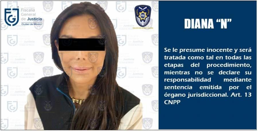 Detienen a Diana Sánchez Barrios, líder de ambulantes, por presunta extorsión y robo agravado
