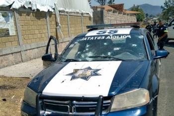 Tras emboscada, en Coatepec Harinas, mueren baleados 13 policías