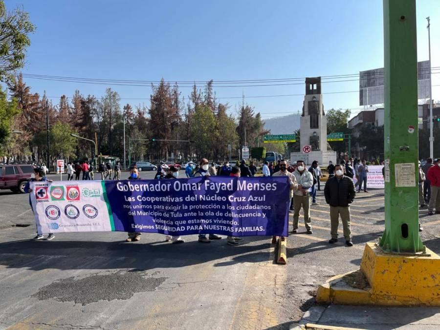 En Hidalgo, cooperativistas demandan seguridad a Omar Fayad, gobernador de la entidad