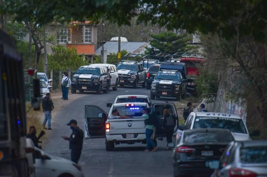 Investigan la emboscada a policías en Coatepec Harinas, Edomex