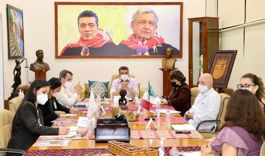 Gobernador de Chiapas se reúne con miembros del Comité Internacional de la Cruz Roja