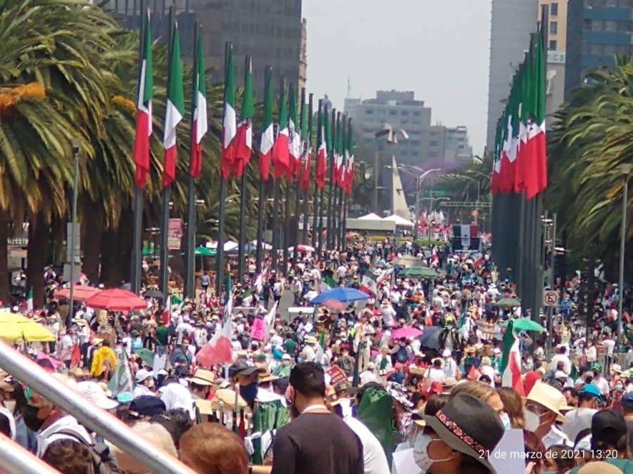 Frena se manifiesta en calles de la CMDX contra AMLO