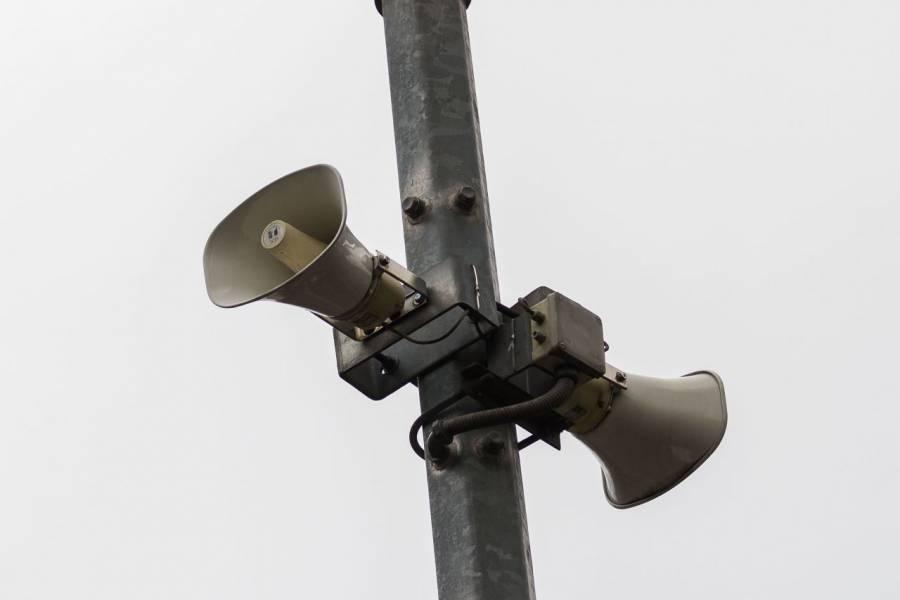 Este 11 de abril, habrá prueba de sonido en altavoces del C5