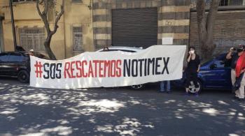 Continúa negociación para resolver huelga en Notimex