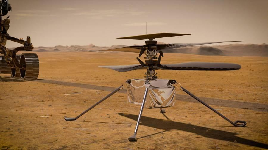 El primer intento de volar un helicóptero en Marte será a principios de abril