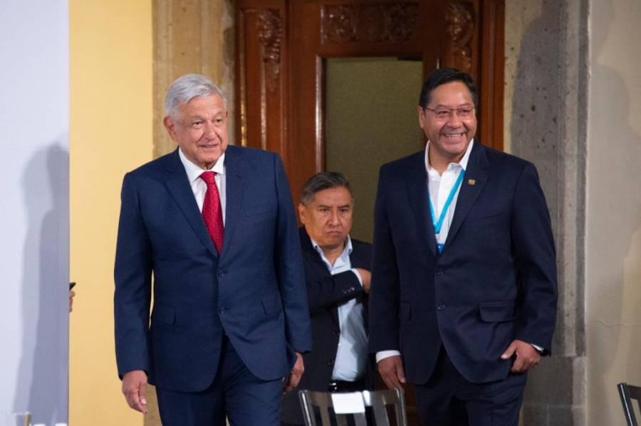 AMLO recibe a Luis Arce, presidente de Bolivia, en Palacio Nacional