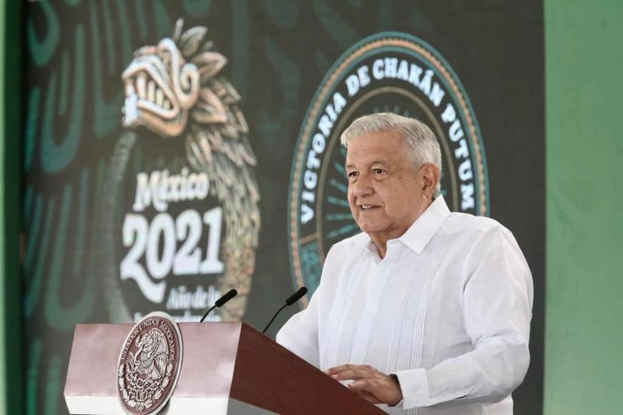 Destaca AMLO que en Campeche se registran 7 homicidios al mes