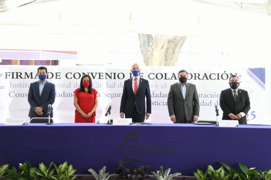 IECM y Consejo Ciudadano para la Seguridad y Justicia, se alían para garantizar elecciones sin violencia
