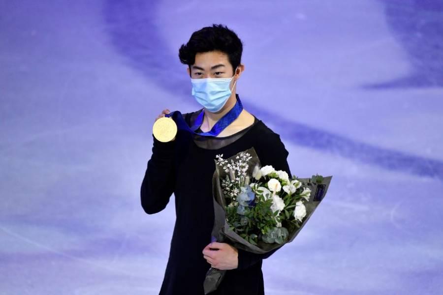 Nathan Chen, campeón del mundo de patinaje artístico por tercera vez al hilo