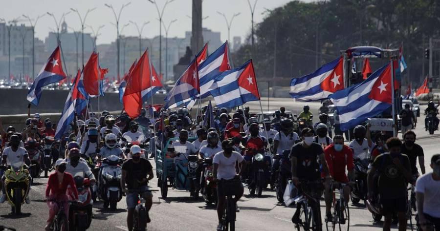 En Cuba se realiza caravana para manifestarse contra sanciones de EE.UU