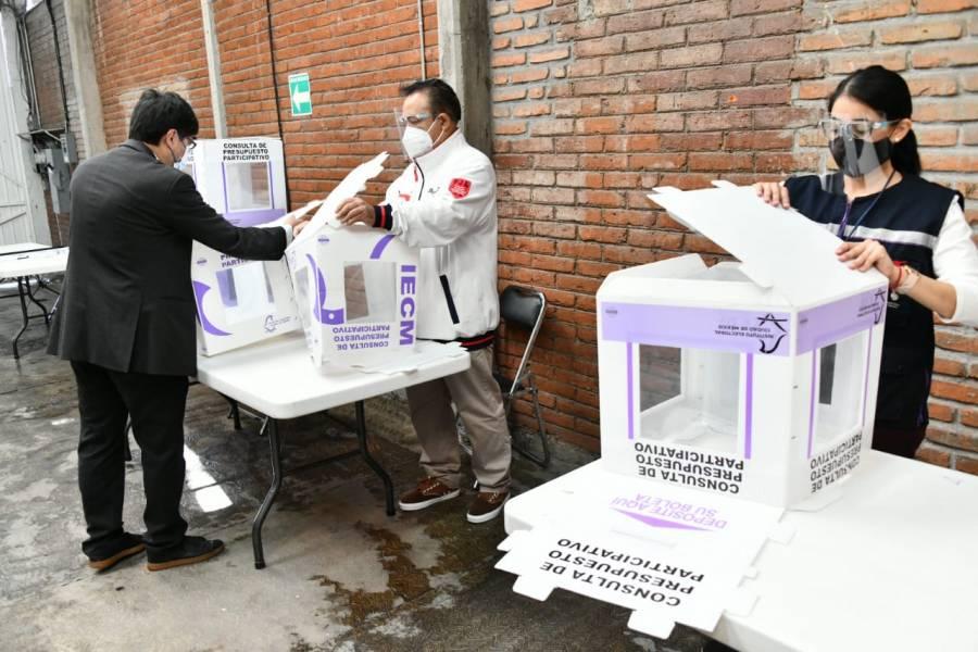IECM implementa simulacro de elección de Copacos y consulta de Presupuesto Participativo