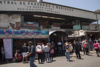 """En el mercado de La Nueva Viga, finaliza operativo """"semana santa 2021"""""""