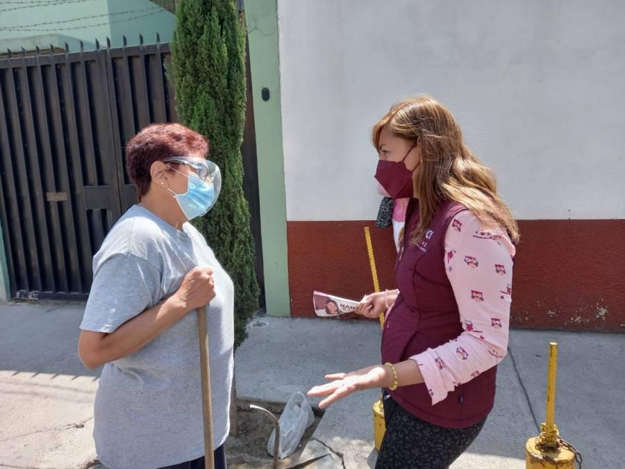 Escucharé propuestas para resolver problemas de Azcapotzalco: Nancy Núñez