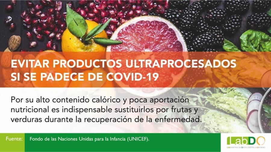 Reducir ingesta de productos ultraprocesados, clave en la recuperación de COVID-19: Especialistas