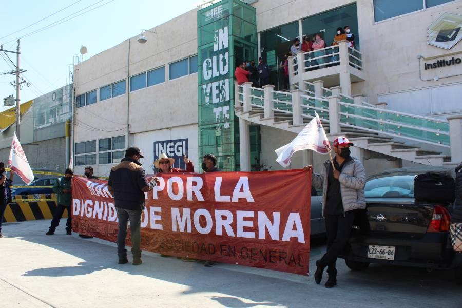 Se desata revuelta en Morena Puebla; consejeros quieren impedir imposición de candidatos