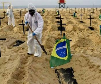 Registra Brasil 4 mil 249 muertes en 24 horas; nuevo récord