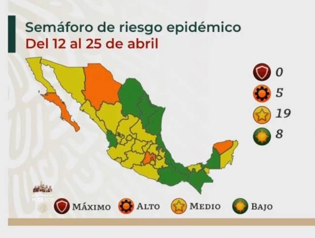 Oaxaca y Nuevo León, estados que se unen al semáforo verde por COVID-19
