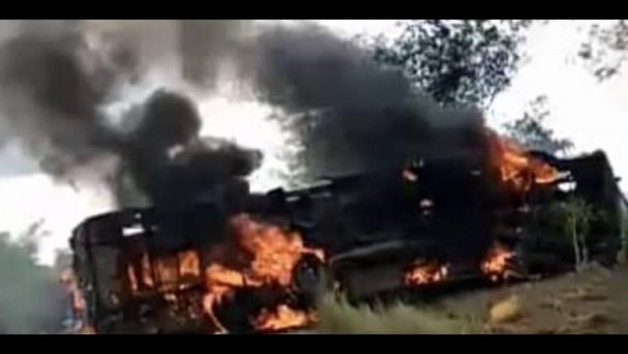 Calcinadas, fallecieron 24 personas en carretera de la República Democrática del Congo