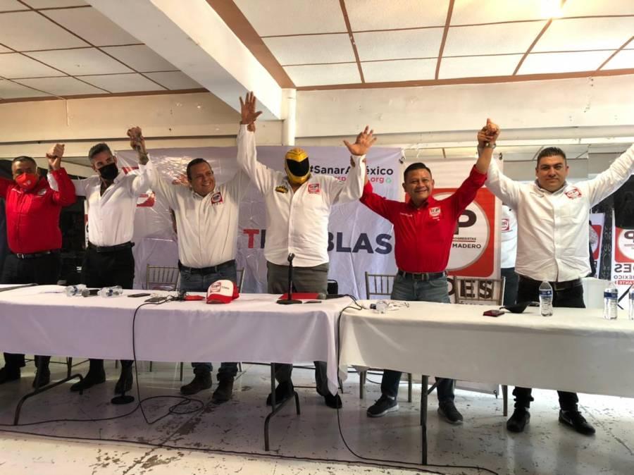 ¡Tinieblas, candidato de RSP a Venustiano Carranza se despojará de la máscara para gobernar!