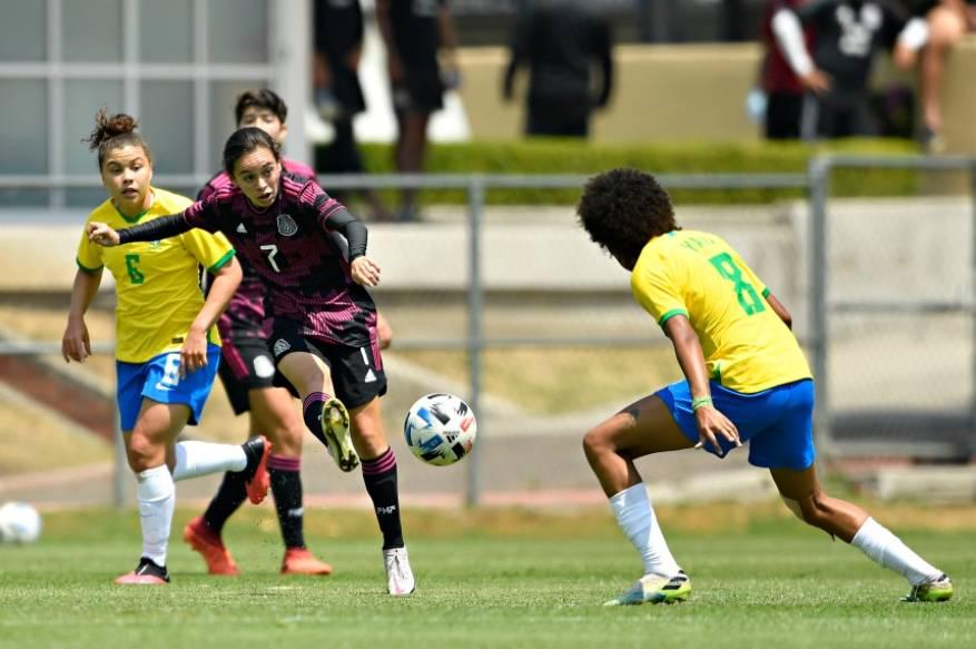 Tri Femenil Sub-20, entrenado por Maribel Domínguez, cae en amistoso ante Brasil
