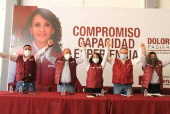 Militantes del PRD se suman a campaña de Dolores Padierna en la Cuauhtémoc