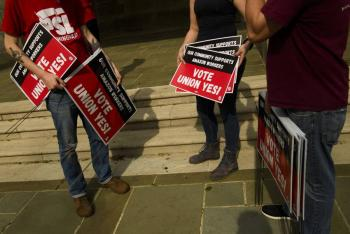 Trabajadores de Amazon no quieren sindicalizarse