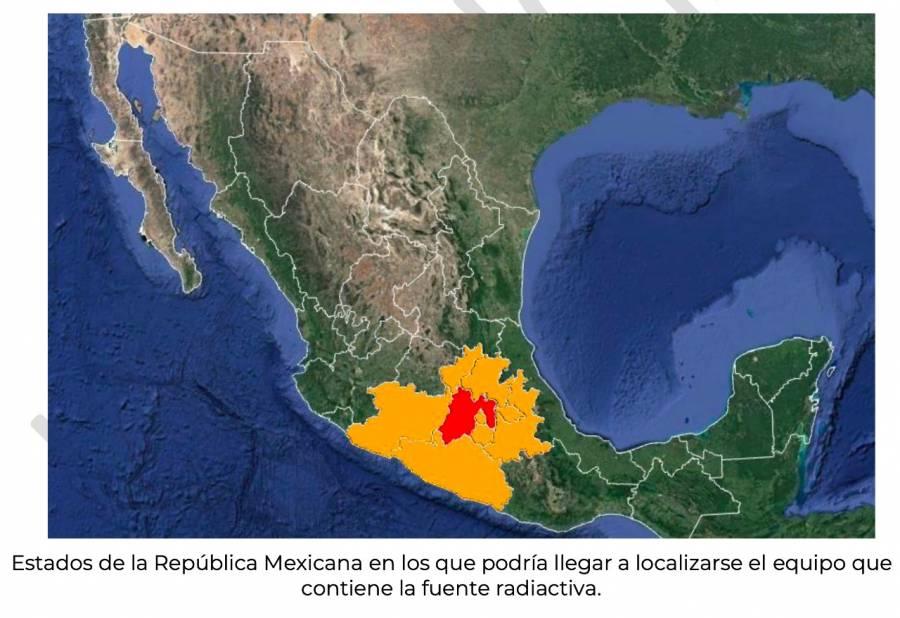 Emiten alerta por fuente radiactiva robada en territorio nacional