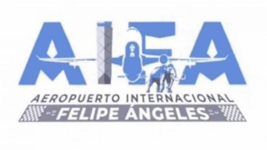 Difunden logo del Aeropuerto Felipe Ángeles; llueven críticas en redes sociales