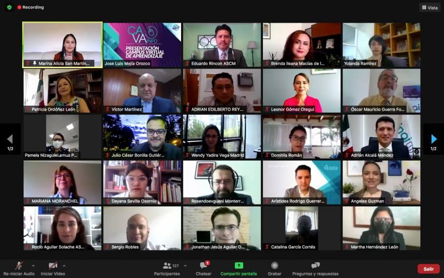 Presentan CAVA INFO, plataforma para capacitar en materia de transparencia y datos personales