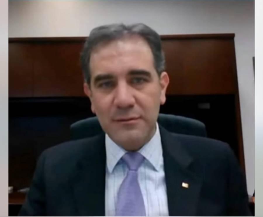 "Lorenzo Córdova advierte que nadie ""amenaza o amedrenta"" al INE"