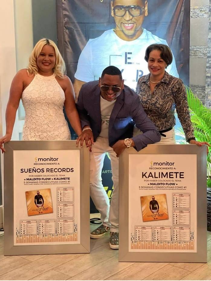 Kalimete se ubica por quinta semana en el número 1 por su tema