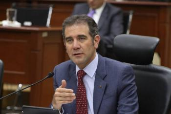 """""""INE no cae en provocaciones, el árbitro no juega'"""" reitera Lorenzo Córdova"""