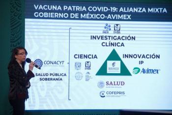 Reitera directora de CONACYT que vacuna Patria costaría menos de 855% que las extranjeras