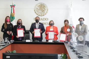 Inmujeres y la Cámara de Diputados firman convenio para garantizar los derechos de este sector en la legislación y en las políticas públicas