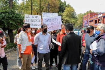 Movimiento Ciudadano acuerda alianza con vecinos para exigir abastecimiento de agua en Coyoacán