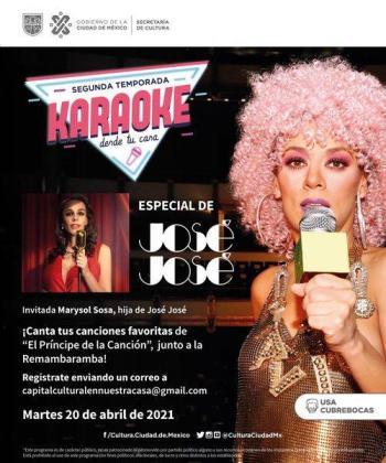 CDMX: Karaoke desde tu casa en honor a José José