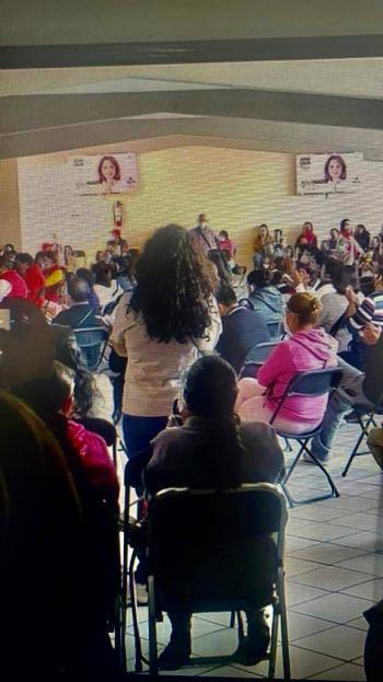 Denuncian entrega de despensas durante acto de campaña proselitista del PRI