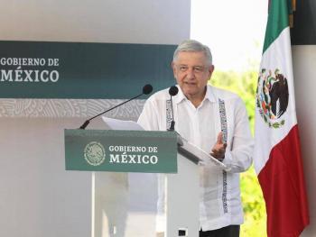 Obrador y Slim verificaron el avance de la construcción del Tren Maya