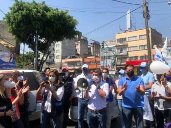 Mauricio Tabe y Margarita Zavala: la gente está cansada del mal gobierno en Miguel Hidalgo