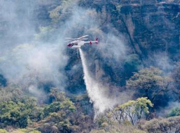 Sofocan en su totalidad incendio en el cerro del Tepozteco