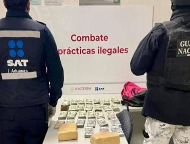 Decomisan Aduanas, Ejército Mexicano y Guardia Nacional divisas por casi 4 millones de pesos