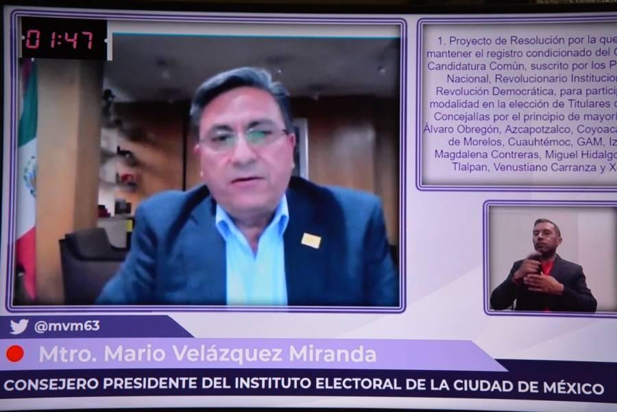 Aprueba IECM mantener registro condicionado de convenio de Candidatura del PAN, PRI y PRD en elección de alcaldías en CDMX