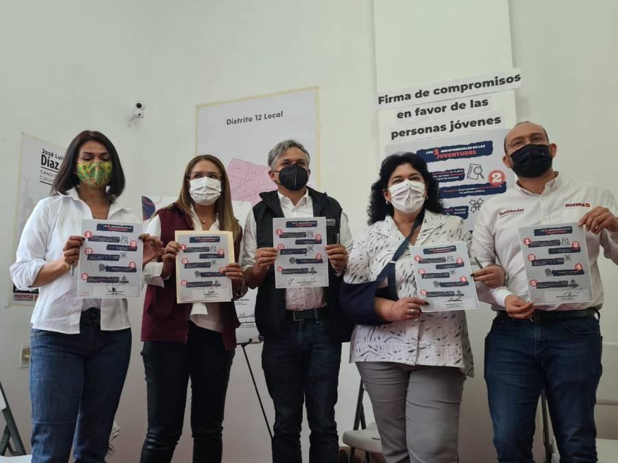 Aspirantes de Morena a diputados, presentan agenda en favor de animales y jóvenes en la CDMX