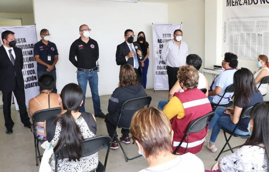 Mercados en Miguel Hidalgo reciben capacitación en materia de Protección de Civil