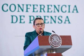 Bajan los homicidios dolosos, asegura Rosa Icela Rodríguez