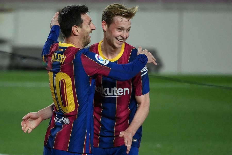 Messi mantiene al Barca en la pelea por LaLiga; los culés golean al Getafe